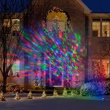 outdoor led christmas lights lightshow kaleidoscope multi colored christmas lights walmart