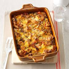 tomato sausage u0026 cheddar bread pudding recipe taste of home