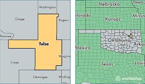 map of tulsa tulsa county oklahoma map of tulsa county ok where is tulsa