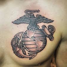us marines chest veteran ink