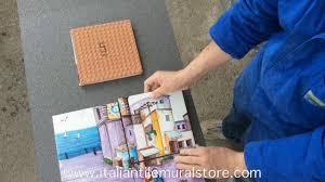 how to install a tile backsplash italian tile mural store youtube