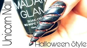 unicorn nail halloween style by black swan beauty youtube