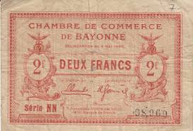 chambre du commerce bayonne chambre de commerce and local emergency banknotes from during