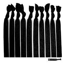 no crease hair ties no crease hair ties all black 10 pack by kenz laurenz