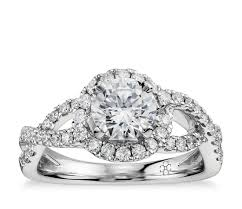 infinity engagement rings colin cowie infinity halo engagement ring in platinum 1 2