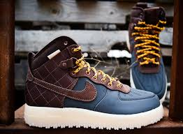 Most Comfortable Air Force Boots Nike Air Force 1 High Duckboot Blue U0026 Brown Nike Air Force