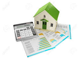 House Building Calculator 3d Illustration Houses Toy House And Documentation With A