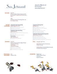 Revised Resume Resume U2014 Saba Joshaghani