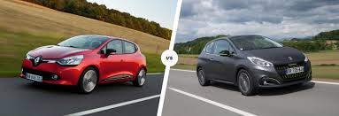 pejo araba renault clio vs peugeot 208 french face off carwow