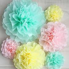 5pcs 6 inches 15cm tissue paper pom poms paper flowers new