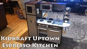 kidkraft modern espresso kitchen kidkraft uptown espresso kitchen review youtube