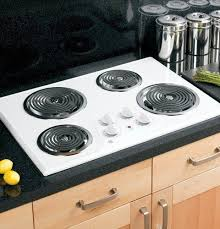 electric stove top high powered 4 four burners cooktop range oven
