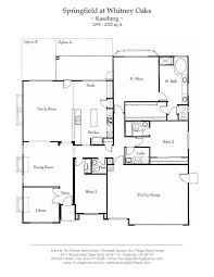 floor plan of my house springfield at oaks floor plans
