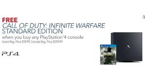 best ps4 console only deals black friday 2016 ps4 with free call of duty infinite warfare deal in early best