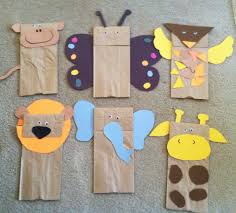 brown paper bag jungle animal puppets w children u0027s book giraffe u0027s