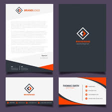 corporate identity design orange and black corporate identity design vector free