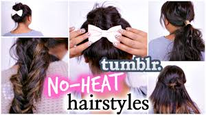 4 easy no heat hairstyles inspired by diy hair