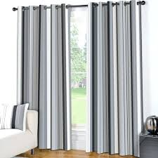 Black And White Stripe Curtains Chadwick 48 96 White Sheer Linen Curtain Panel Grey