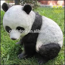 outdoor animals panda frp resin sculpture garden
