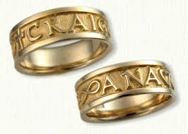 personalized gold rings personalized wedding rings custom designed bands affordable