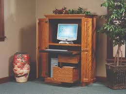 Computer Armoire Desk Cabinet Amish Heirwood Computer Armoire Desk From Dutchcrafters