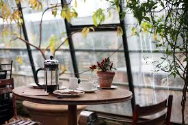 download 4121x2747 coffee shop desk rainy day table wallpapers