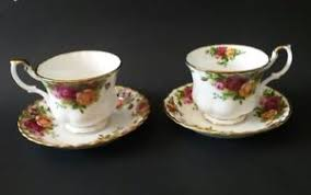 roses teacups royal albert country roses teacups saucers two sets 4 pcs