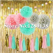 gold foil tissue paper party decorations gold foil curtain balloon tissue paper tassel