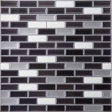 Magic Gel SilverBlack X Self Adhesive Vinyl Wall Tile - Vinyl backsplash tiles