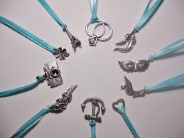 set of 10 cake pull charms victorian wedding tradition