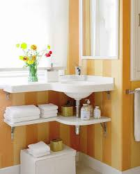 Corner Sink Faucet Amazing Creative Small Bathroom Storage Ideas With Floating Corner