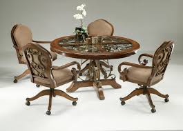 How To Make Dining Chairs With Casters - Caster dining room chairs