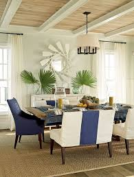 Dining Chair Ideas Mesmerizing Dining Room Ideas Stripes Blue White Sofa Bench Wooden