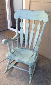 A Rocking Chair Distressed And Refinished Rocking Chair Painted In Ascp Florence
