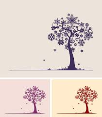snowflake tree vector graphic