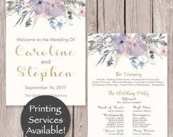 Wedding Program Printing Mauve Program