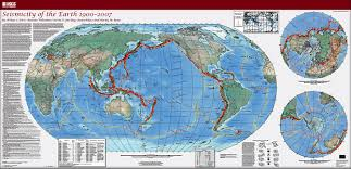 map of and usgs scientific investigations map 3064 seismicity of the earth