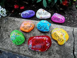 Painting Rocks For Garden Rock Garden Markers Paint Rocks To Make Markers For Your Plants