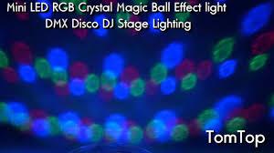supertech led magic ball light instructions mini led crystal magic ball dmx disco dj stage light youtube