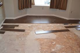 laminate flooring with foam backing attached