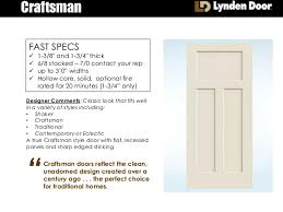 Craftsman 3 Panel Interior Door Craftsman Molded Interior Door Summary Presentation