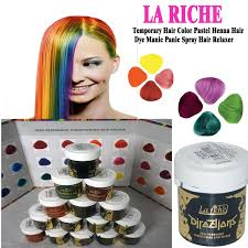 la riche directions hair dye colour choose all colours temporary