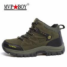 mvpboy men u0027s hiking shoes plush winter boots outdoor sneakers