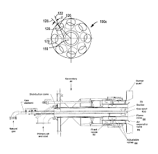 patent us6951454 dual fuel burner for a shortened flame and