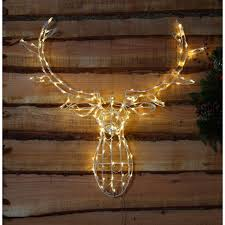 illuminated led deer stag twinkling warm white lights