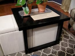 coffee table build a coffee table to fit over storage ottomans