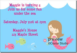 mermaid party invitations template best template collection