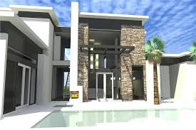 Modern Two Storey House With Streamline Roof by 4 Bedrm 3885 Sq Ft Modern House Plan 116 1080