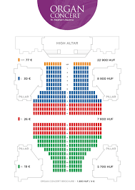 seating plan of the st stephen u0027s basilica organ concerts