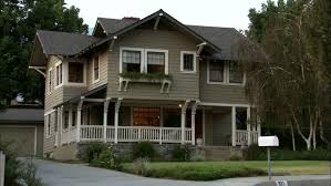 Two Story Craftsman by Afternoon Dusk Pan Left Up Wide Right Aked Left Two Story Brown